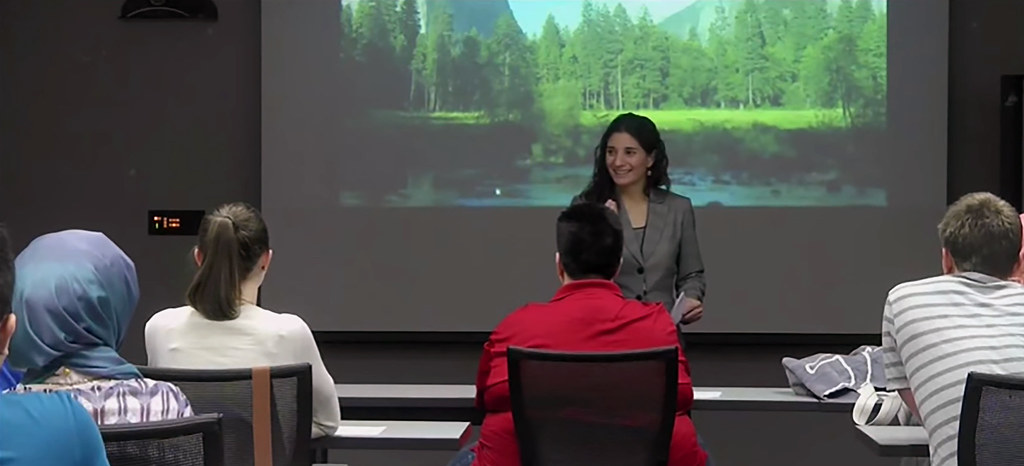 Crisis Center Director teaching class