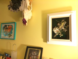 Estate Sale Find: Gold Finch in situ | by shefightslikeagirl
