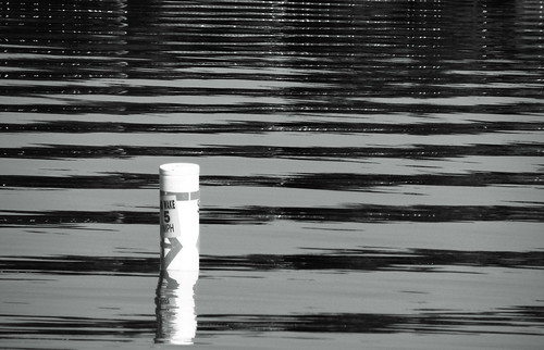 blackandwhite lake water waves ripples buoy canons3is