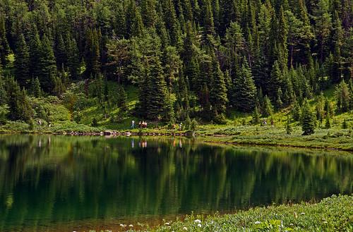 Hikers At Laryx Lake