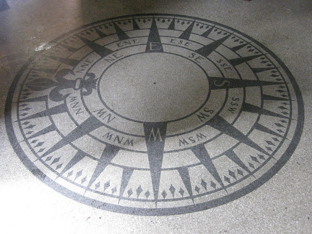 A Mariner S Compass In The Terrazzo Floor Of The Foyer Ves