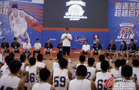 August 19th, 2012 - Jeremy Lin answers questions during the first day of his basketball camp in Dongguan | by ballclub