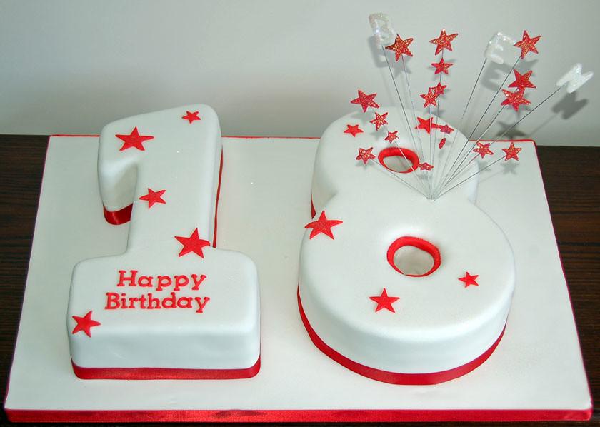 Fabulous 18Th Birthday Cake 18Th Birthday Number Cake Sylvania Cakes Funny Birthday Cards Online Inifodamsfinfo