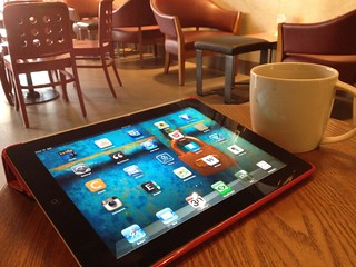 iPad, jazz, and a cuppa joe | by daveterry