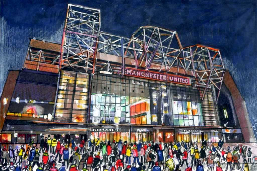 Old Trafford at Night, On Match Day | The home of ...