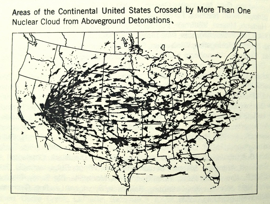 Us Nuclear Testing Fallout Map Areas Of The Continental Un Flickr - Fallout-map-of-the-us