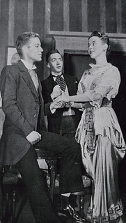 Richard Chamberlain '56 (left) in a theatre production in Holmes Hall