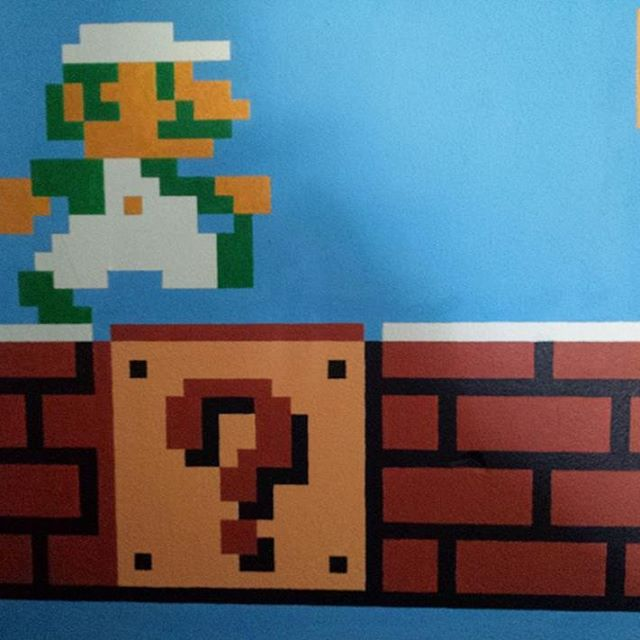 Hand Painted Super Mario Bros 8bit Retro Pixel Art Acrylic Flickr