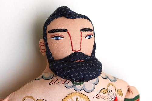 tattooed man, day of the dead | by Mimi K