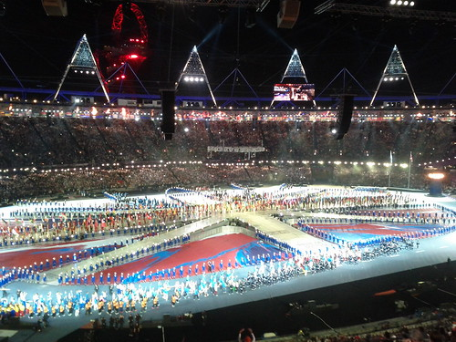 #london2012 #closingceremony the athletes come in | by gorgeoux