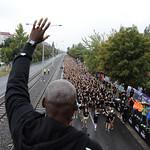 Carl Lewis na startu, foto: Nike