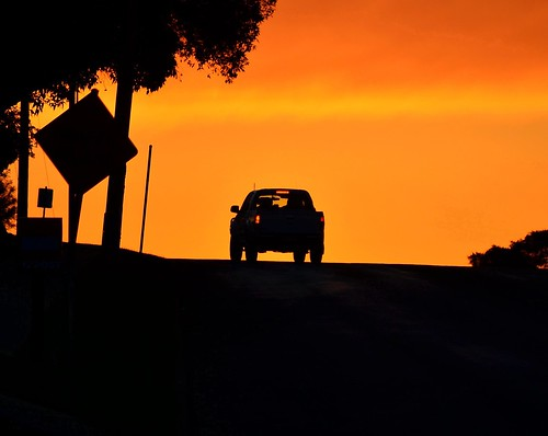 road sunset sky orange car silhouette gold golden nikon australia victoria ute vic gippsland warragul auspctagged stunningskies pc3820 d5100 nikond5100 phunnyfotos