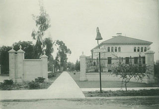 Bell at the newly built College Gates