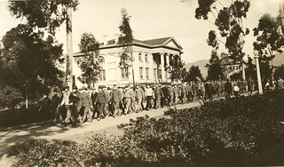 Armistice Day at Pomona College in 1918