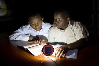 Solar lamp helps children study | by Living Goods