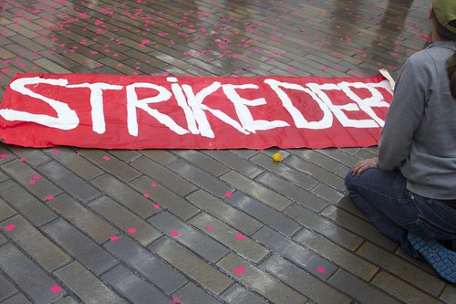 Strike Debt Action Inside Chase BankOccupy Wall Street Anniversary #S17 | by Elizabeth Brossa