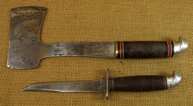 RD14019 Vintage Western Knife & Hatchet Combo Boulder, Colo. DSC05368
