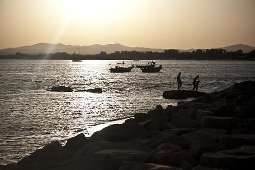 sunset mediterranean tunisia tunis tunisie hammamt