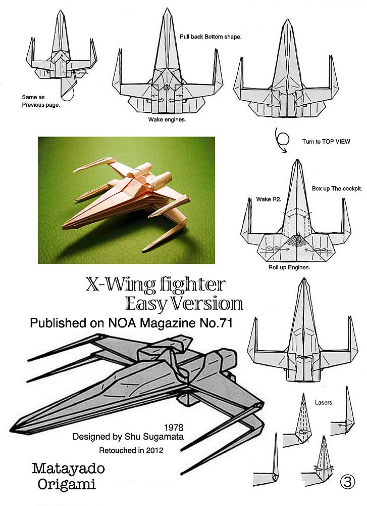 X Wing Fighter Origami Diagram Easy Version 3 If You Finis Flickr