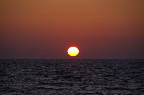 sunset sea sun hokkaido