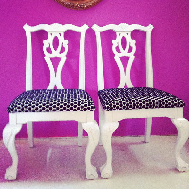 New #insomnia #DIY - #reworked  #vintage #Chppendale #chairs