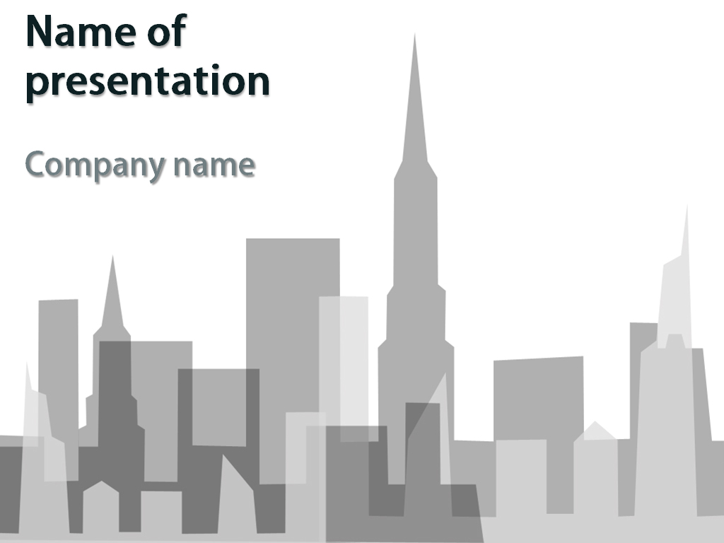 Big City Powerpoint Template Big City Powerpoint Theme Th