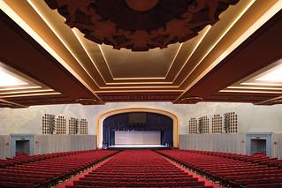 Current view of Bridges Auditorium, built in 1931