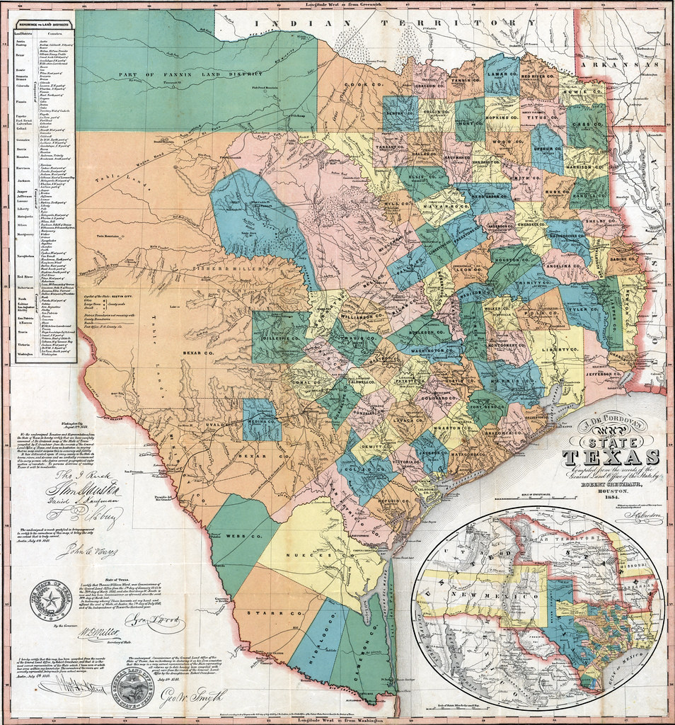 Map State Of Texas.J De Cordova S Map Of The State Of Texas 1854 Image Cou Flickr