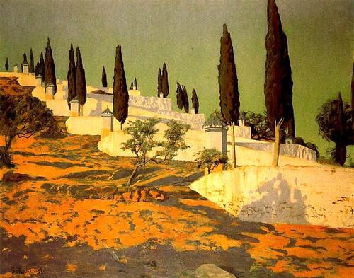 Rusinol, Santiago (1861-1931) - 1905-1910  Calvary Mallorcan