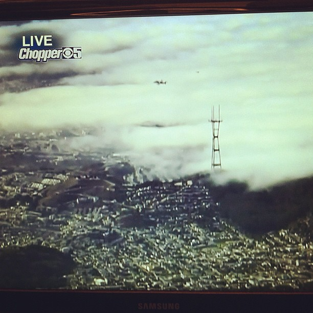 #kvpnewsroom : Best story of the day! @NASA #Endeavour 's final flight, over #SF Twin Peaks
