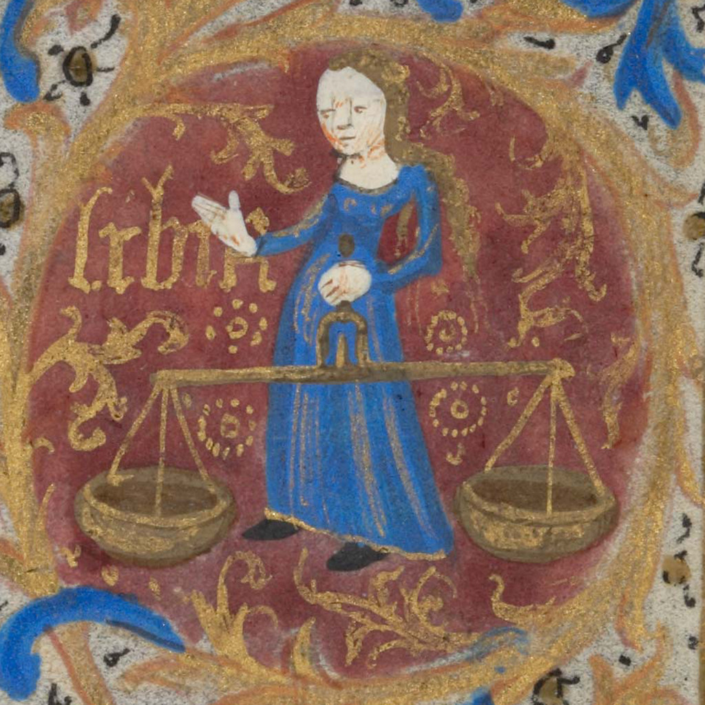 Zodiac sign of LIBRA in a 15th century manuscript | The zodi… | Flickr