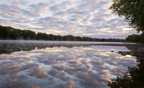 minnesota sunrise september mississippiriver dayton elmcreekparkreserve mississippigreatriverroad