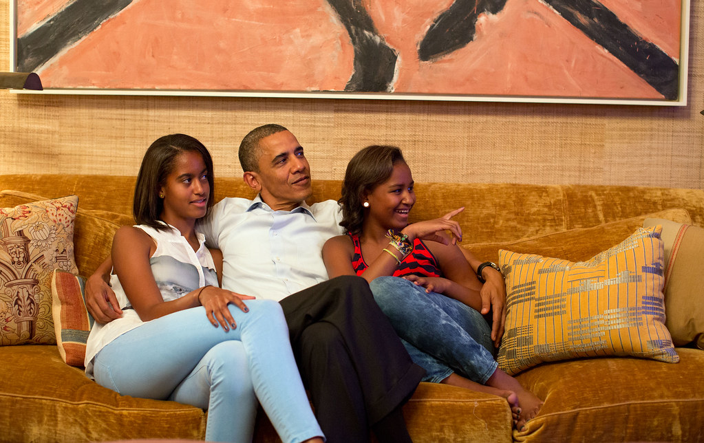 Image result for barack obama with daughters