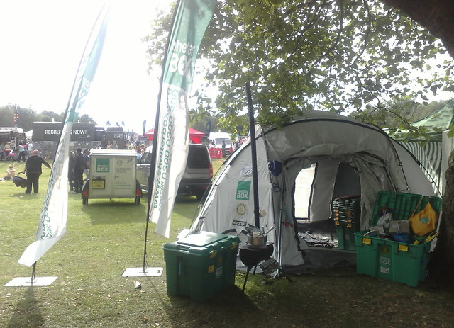 Shelterbox at Rotherham Show Clifton Park Rotherham Yorkshire