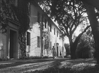 Hulbert Burroughs photo of the Clark V residence hall , part of the men's campus, in 1950