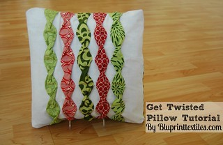 Get Twisted Pillow Tutorial | by Bluprint Textiles