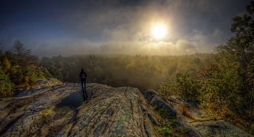 morning autumn sun mist fall fog sunrise landscape pentax massachusetts newengland granite paranormal magical quarry hdr myst freetown tonemapped assonet assonetledge blinkagain trigphotography frankcgrace