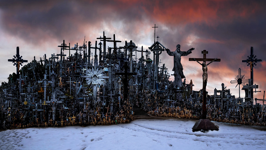 The Hill of Crosses of Šiauliai in Lithuania