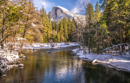 Yosemite NP Snow! Fine Art Yosemite National Park Winter Snow Landscape Photography! Valley View Merced River! Sony A7R II Mirrorless & Carl Zeiss Vario-Tessar T* FE 16-35mm f/4 ZA OSS Lens SEL1635Z! Scenic Yosemite California Winter! | by 45SURF Hero's Odyssey Mythology Landscapes & Godde