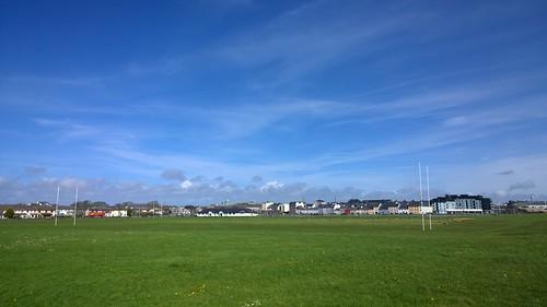 blue green park sunshine galway ireland landscape grass goalposts city cameraphone lumia1020