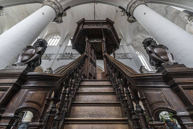 ascending the pulpit