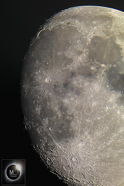 86% Waxing Gibbous Moon Terminator Region 23/07/18