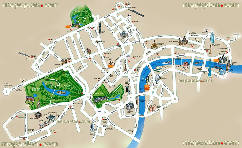 Printable London Street Map.London Top Tourist Attractions Printable City Street Map Flickr