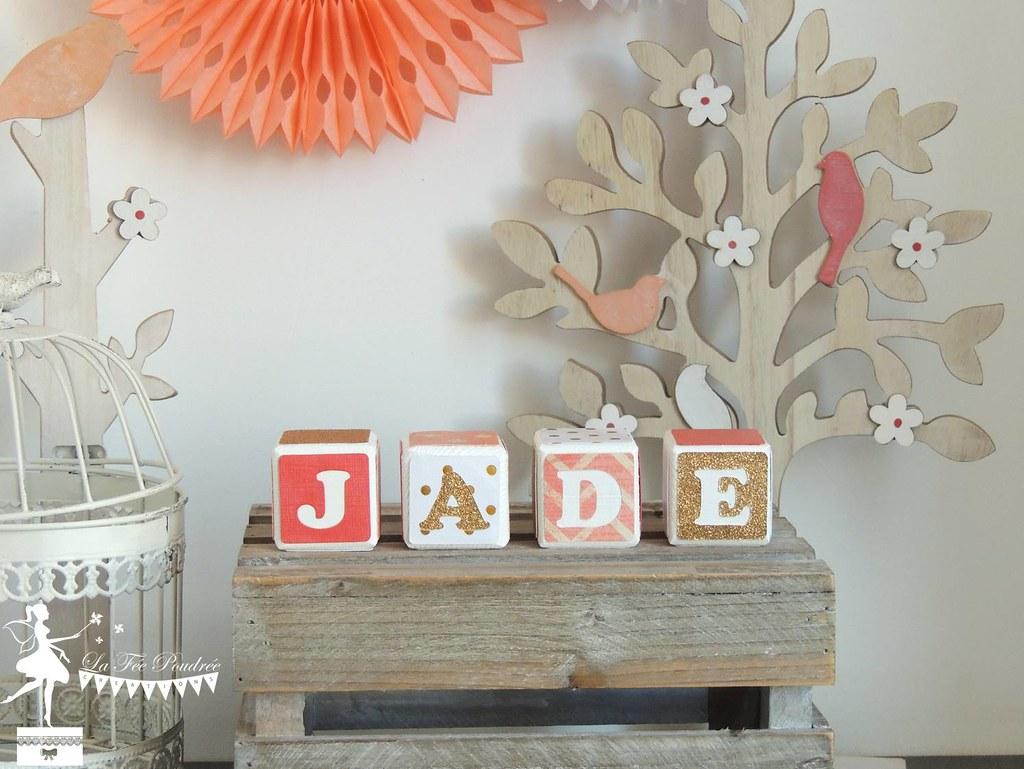 cube bois decoration chambre enfant baptême corail blanc d  Flickr