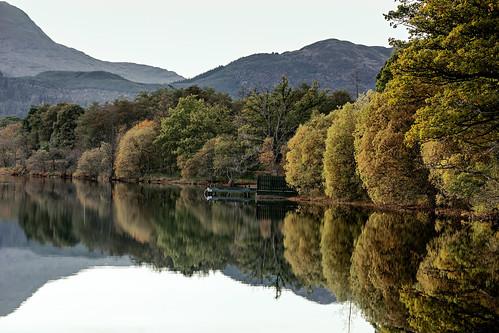 lochard loch reflection autumncolours tree water scotland grantmorris grantmorrisphotography canon