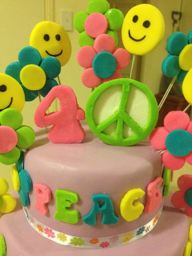 Magnificent Peace Hippie Themed Birthday Cake Hippie Peace Love T Flickr Funny Birthday Cards Online Unhofree Goldxyz