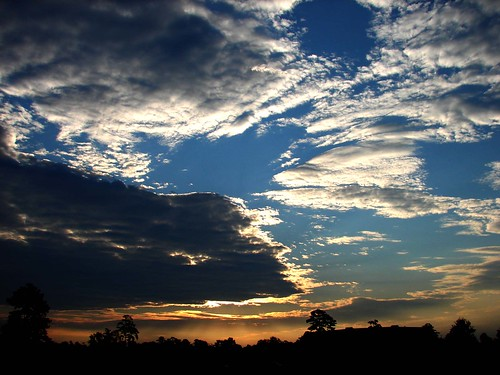 morning blue sky color clouds sunrise skyscape colorful