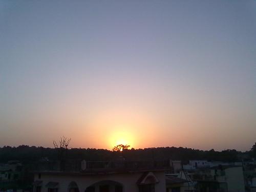 sunset india dehradun