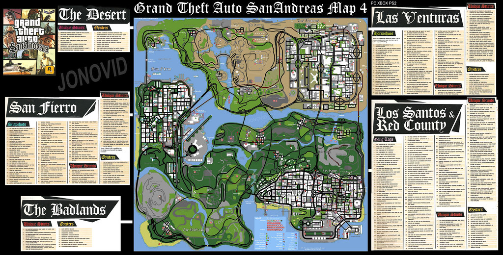 Gta San Andreas Game Map Plus Grand Theft Auto San Andreas