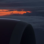 the afterglow over the clouds